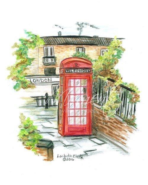 London Calling Watercolor